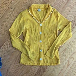 Vintage yellow 60s long sleeve shirt